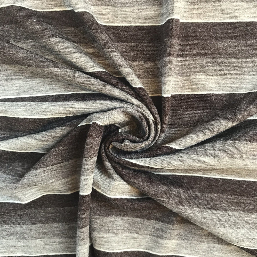 All The Greys - Striped Viscose Jersey - sold by the half metre