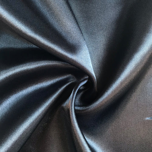 Navy Satin - sold by the half metre