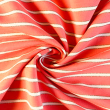 Coral Sparkle Stripe Jersey from Stitchy Bee
