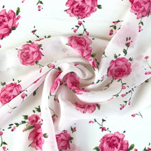 Rosie Ivory Crepe Chiffon - sold by the half metre
