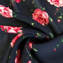 Rosie Navy Crepe Chiffon - sold by the half metre