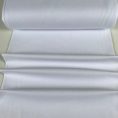 White Jersey Ribbing 95% Cotton 5% Spandex - sold by the half metre