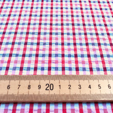 Checky check Seersucker Fabric from Stitchy Bee