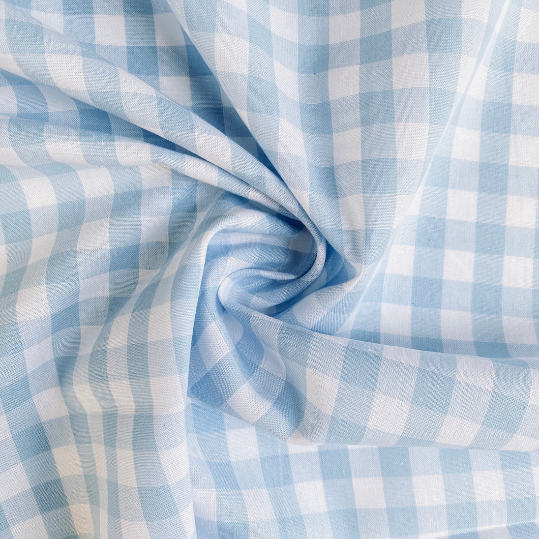 Baby Blue Yarn Dyed 100% Cotton Gingham from Stitchy Bee