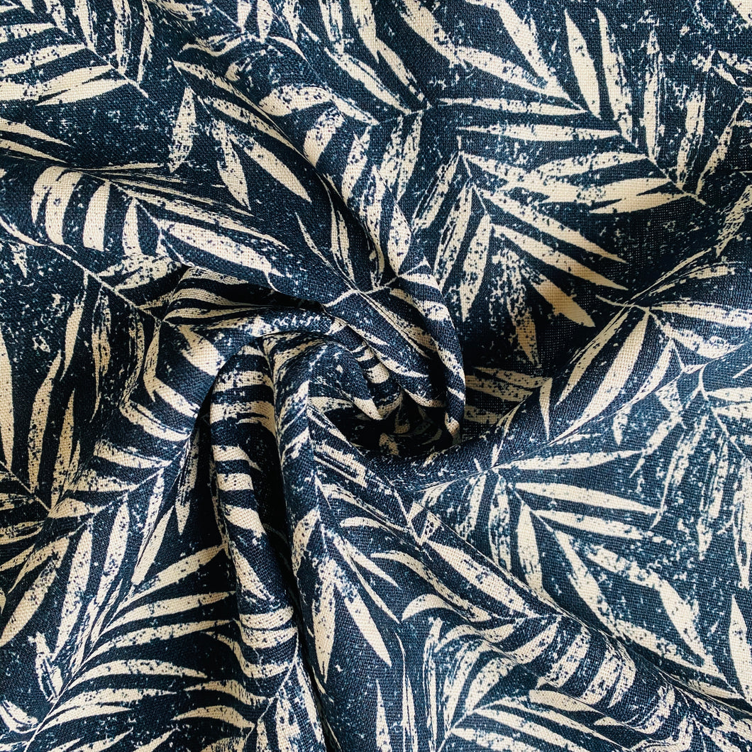 Navy Fern Linen Viscose from Stitchy Bee