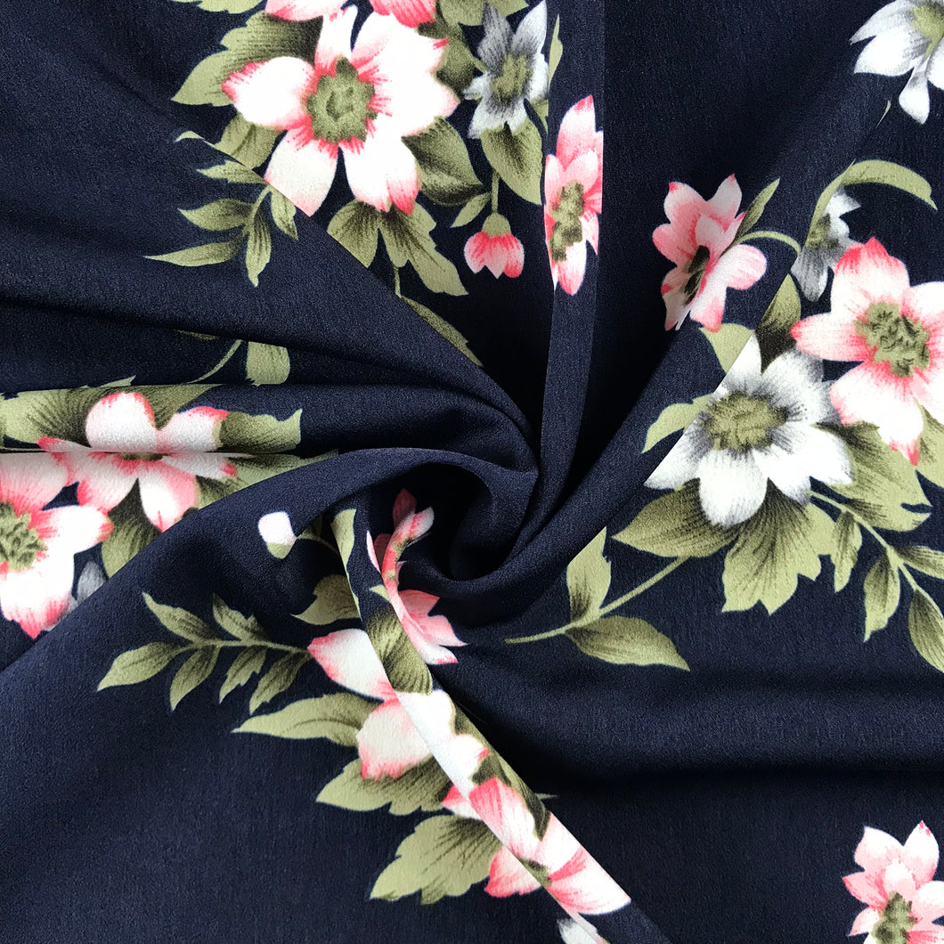 Navy Bloom Crepe from Stitchy Bee