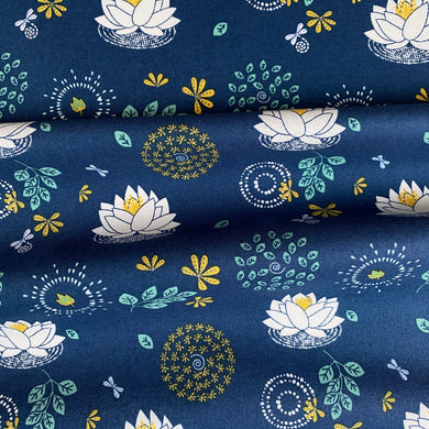 Lotus Flower Organic Cotton from Stitchy Bee