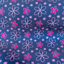 Pinky Flower Stretch Viscose Denim from Stitchy Bee