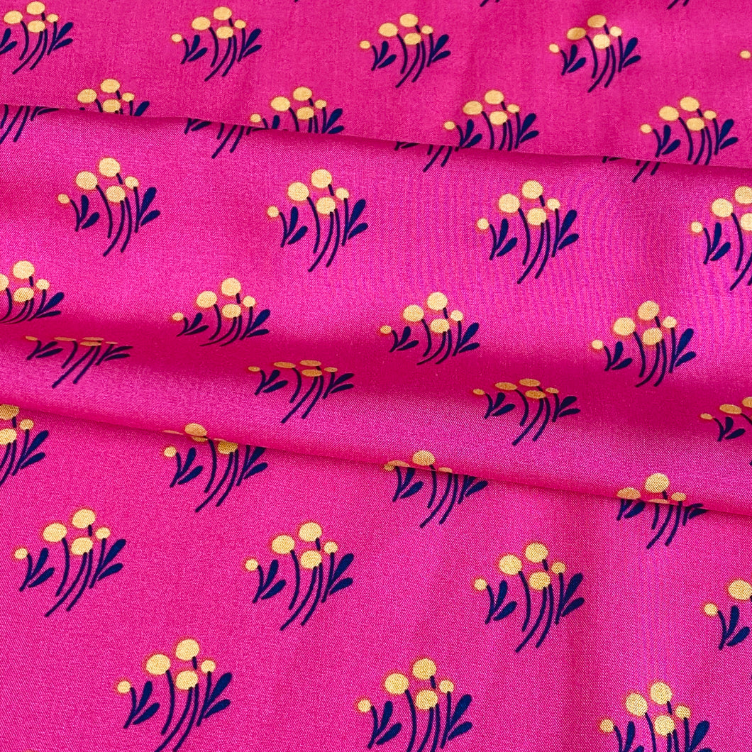 Pinky Flower Viscose - sold by the half metre
