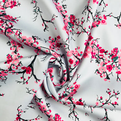 Duck Egg and Blossom Cotton Sateen from Stitchy Bee