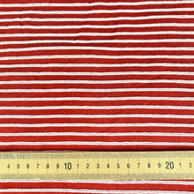 Red and White Ribbing from Stitchy Bee