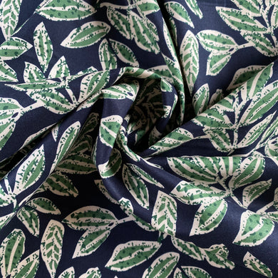 Autumn Is Here Cotton Lawn in Navy and Green from Stitchy Bee
