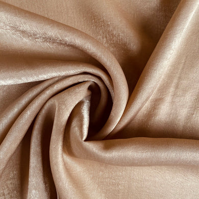 Silk Velvet Washed Satin in Mink from Stitchy Bee