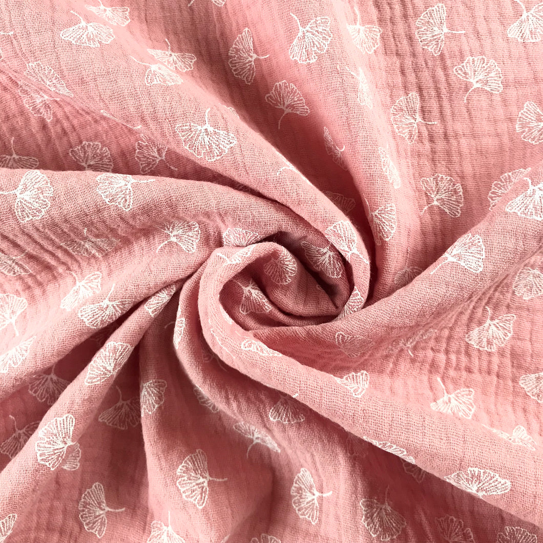 Dusky Pink Double Gauze Cotton from Stitchy Bee