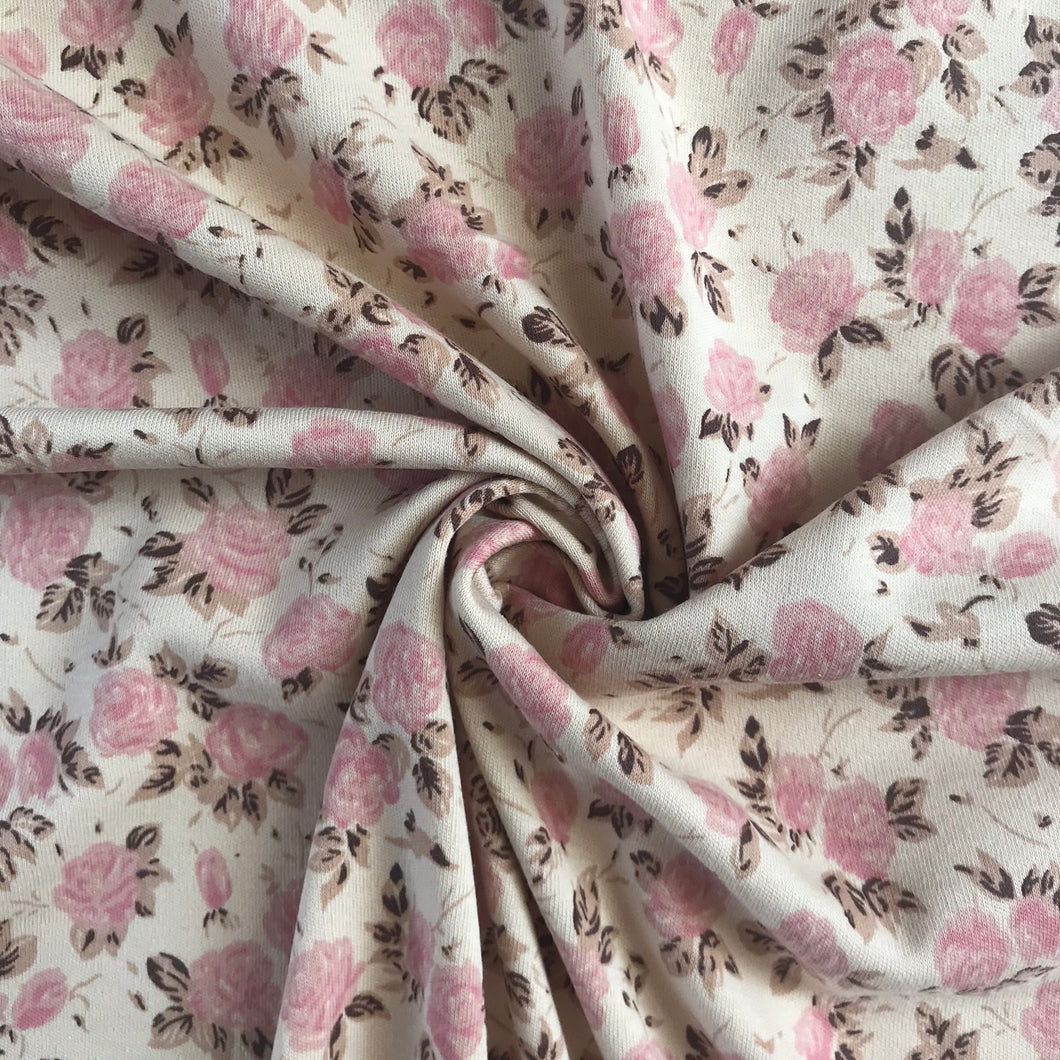 Lady McElroy Maid Marion 100% Cotton Interlock Rose Jersey from Stitchy Bee