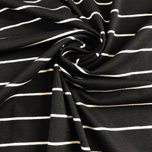 Lady McElroy Black Magic Stripey Viscose Jersey from Stitchy Bee