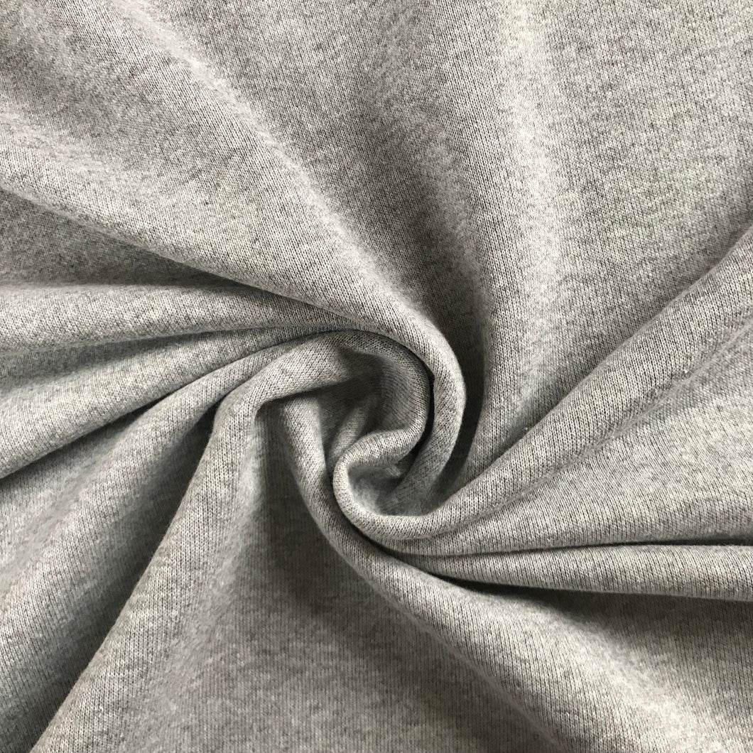 Grey French Terry Fabric 170cm wide from Stitchy Bee