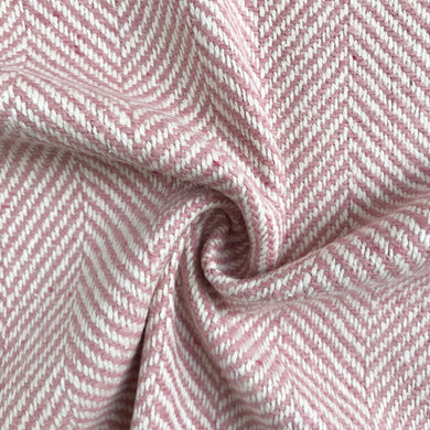 Blush Herringbone Wool Blend Fabric from Stitchy Bee