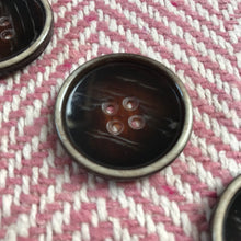 Large 30mm Dark Brown Coat Buttons Pack of 3