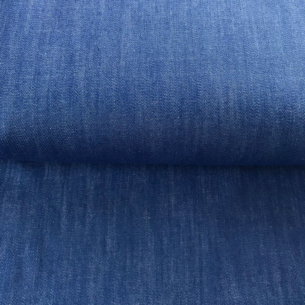 Super Luxe Mid Blue Denim with stretch from Stitchy Bee