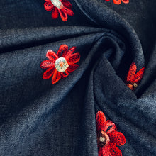 Joyful Flowers Chambray Denim from Stitchy Bee