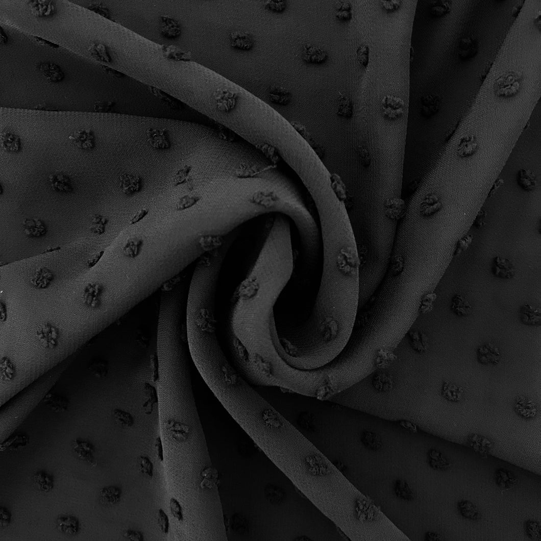 Jet Black Knot Chiffon from Stitchy Bee