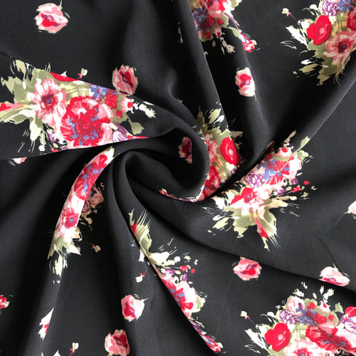 Floral Smooth Poly Fabric from Stitchy Bee