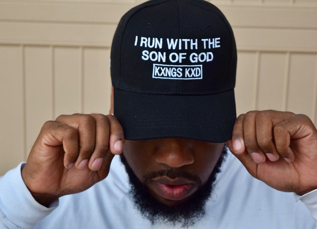 I RUN WITH THE SON OF GOD STRAP BACK ADJUSTABLE HAT