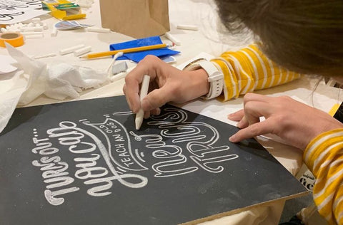 chalk lettering workshop resource guide