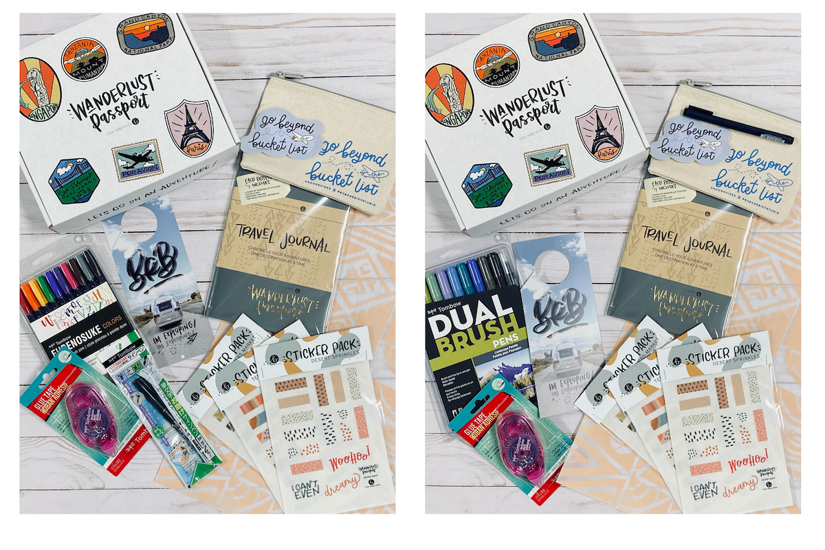 Wanderlust Passport Limited Edition Kits with Tombow Brush Pens