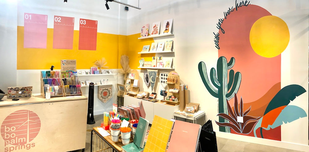 bobo palm springs boutique stationery store in Palm Springs