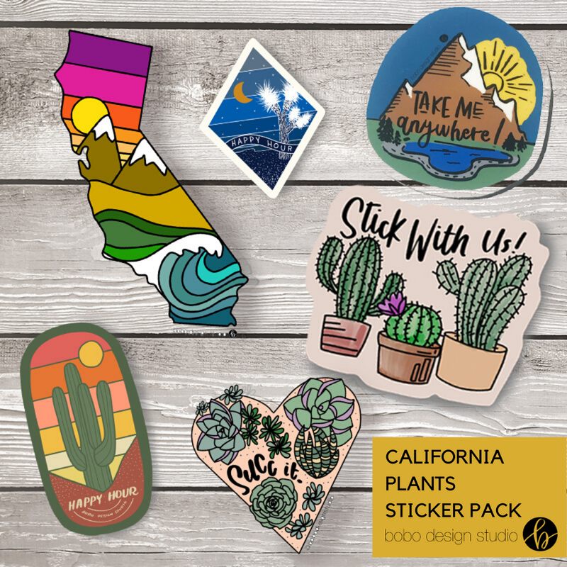 Saguaro Happy Hour - Sticker