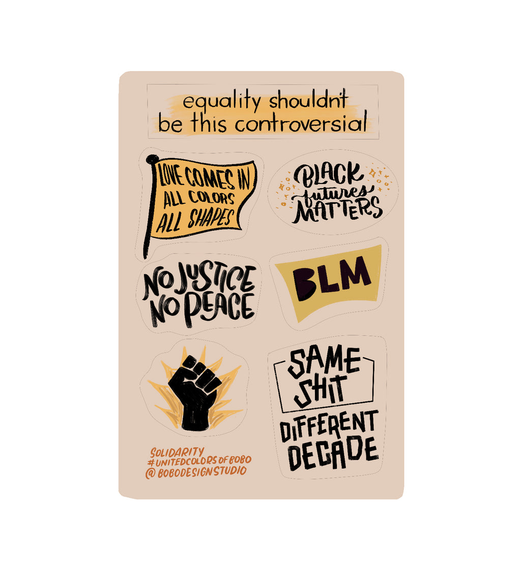 BLM Sticker Sheet- 4x6