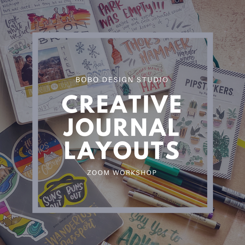 Creative Journaling and Layout Workshop for Planners and Journalers alike.