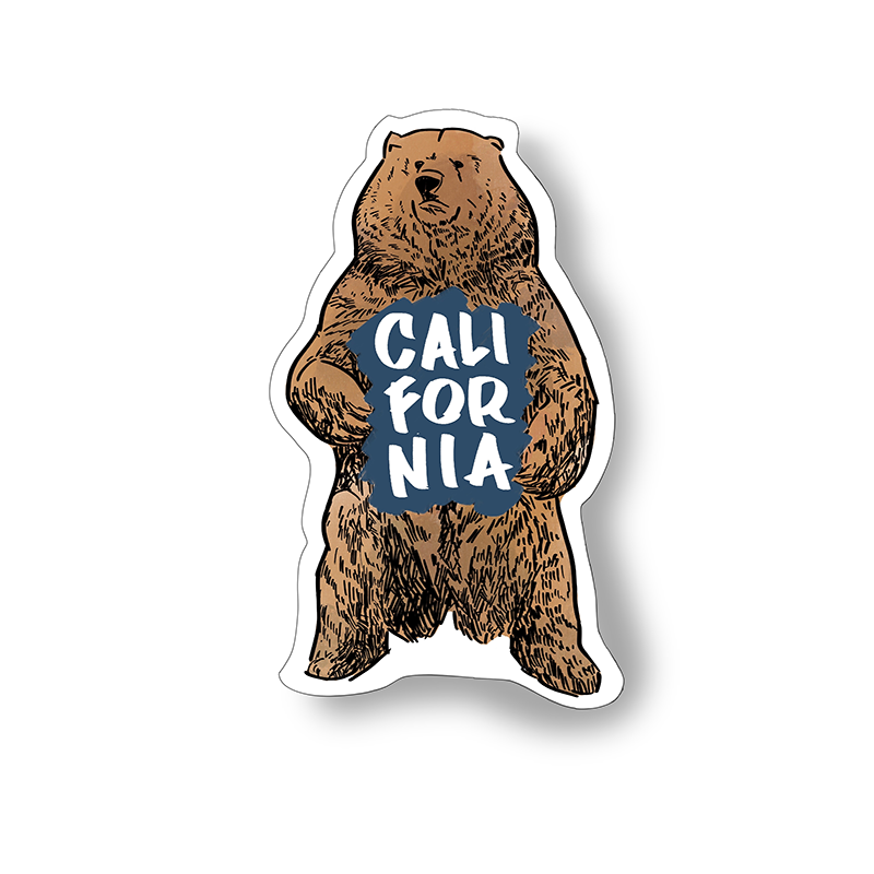 California Bear sticker by bobo design studio