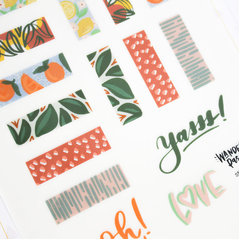 Wanderlust Passport Sticker Pack-Farmers Market Theme (2 sheets)
