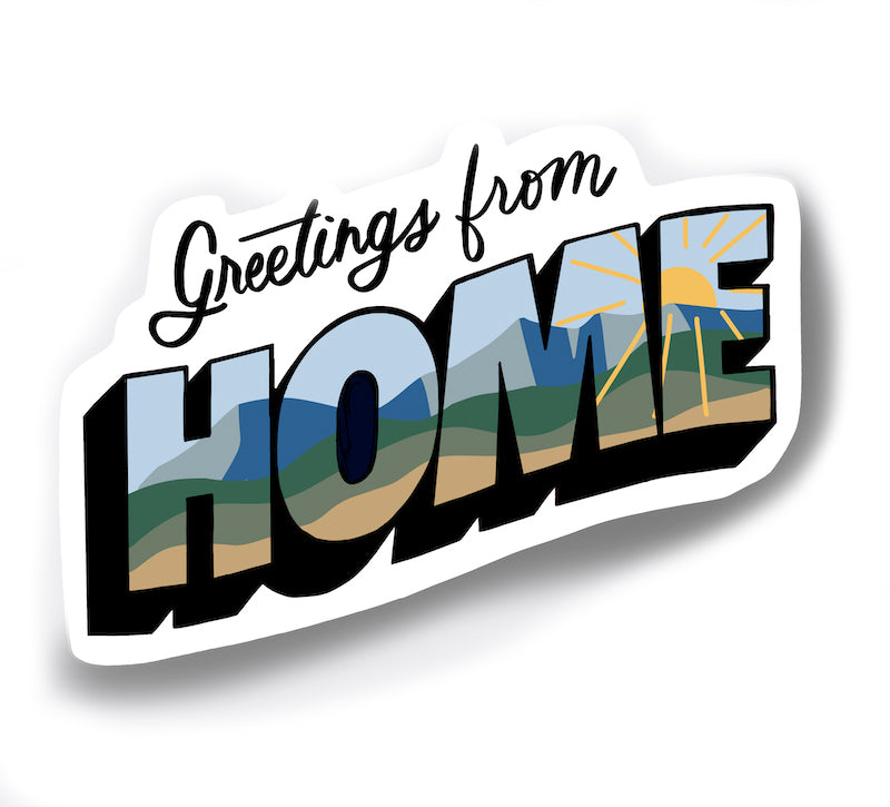 Greetings from Home Vinyl Sticker to commemorate quarantine in 2020