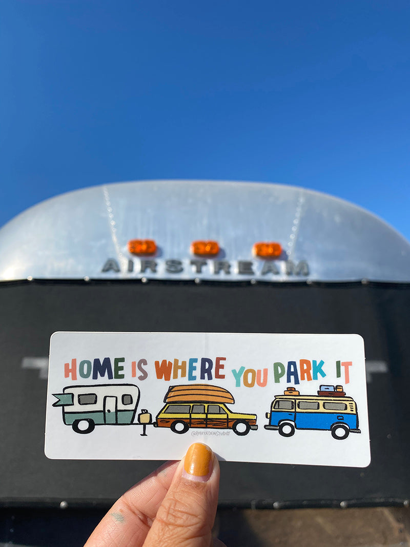 Home is Where You Park It RV Sticker with Airstream
