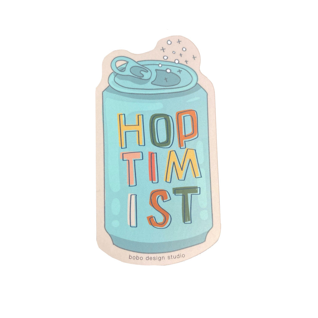 Hoptimist Beer Lover Sticker by bobo design studio