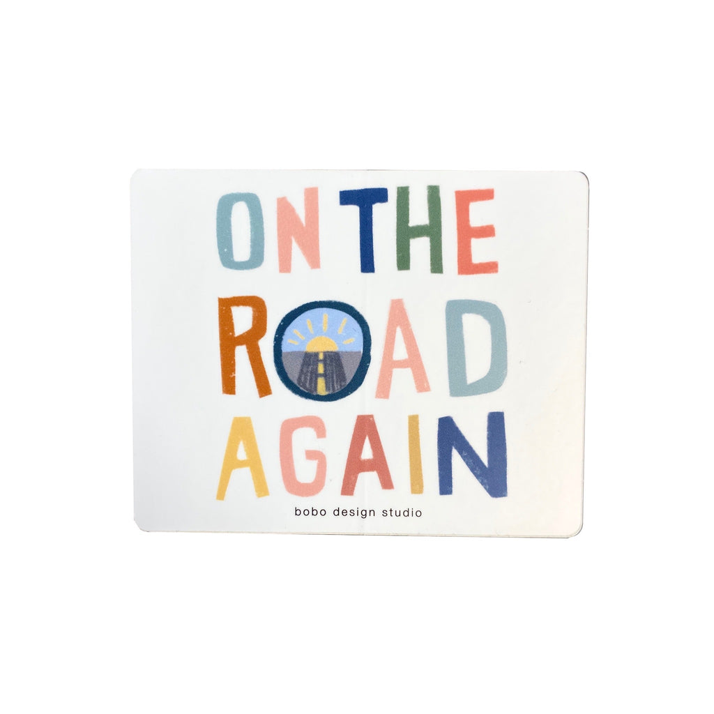 On the Road Again Sticker by bobo design studio