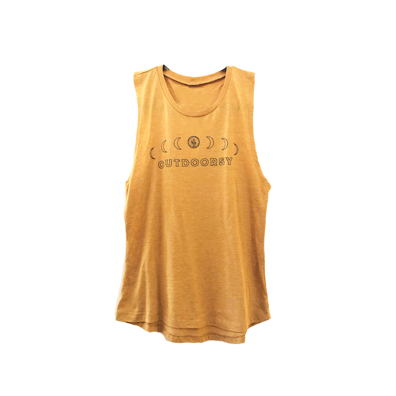 Outdoorsy Moon Cycles Muscle Tee