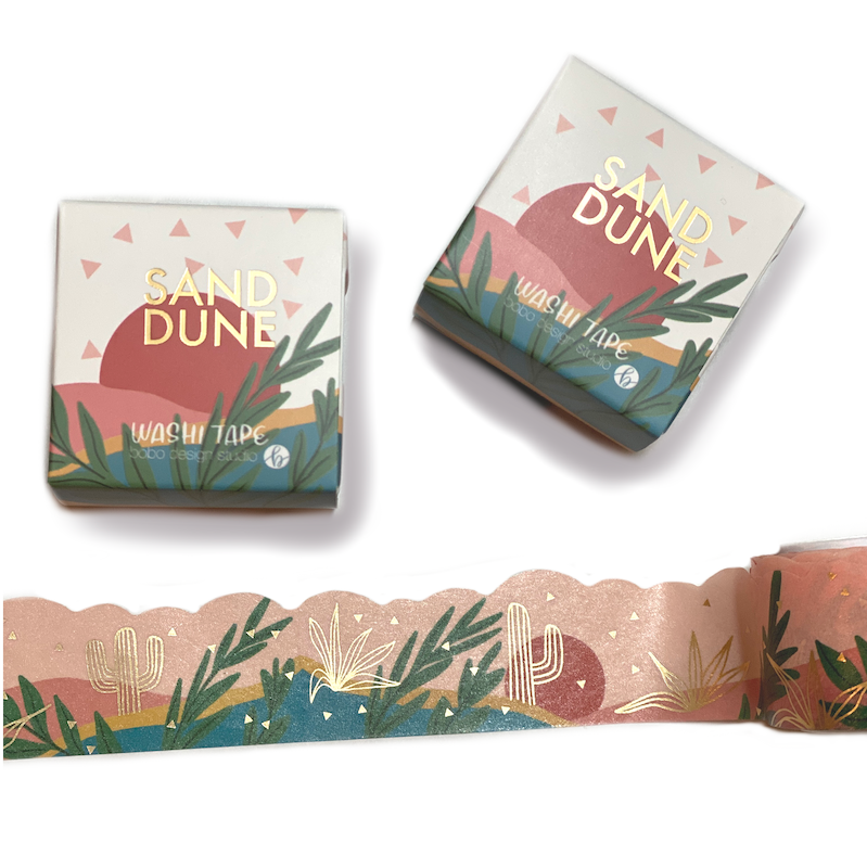 bobo design studio sand dune cloud cut washi tape