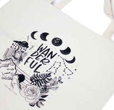 Wanderful Tote bag by bobo design studio