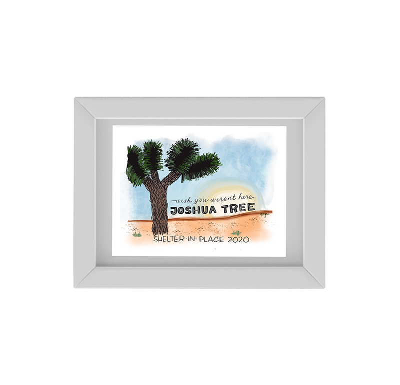 The Wish You Weren't Here,  Joshua Tree Anti-Travel Postcard Framed