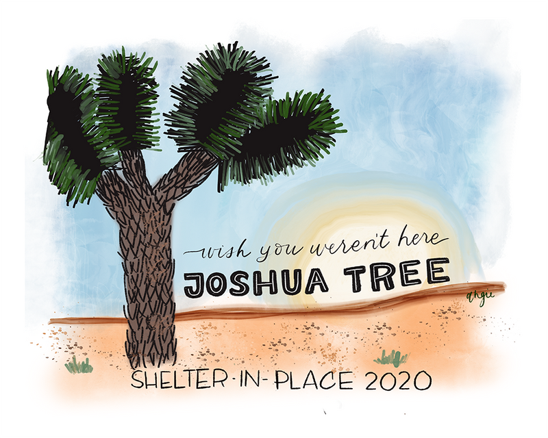 The Wish You Weren't Here, Joshua Tree Anti-Travel Postcard