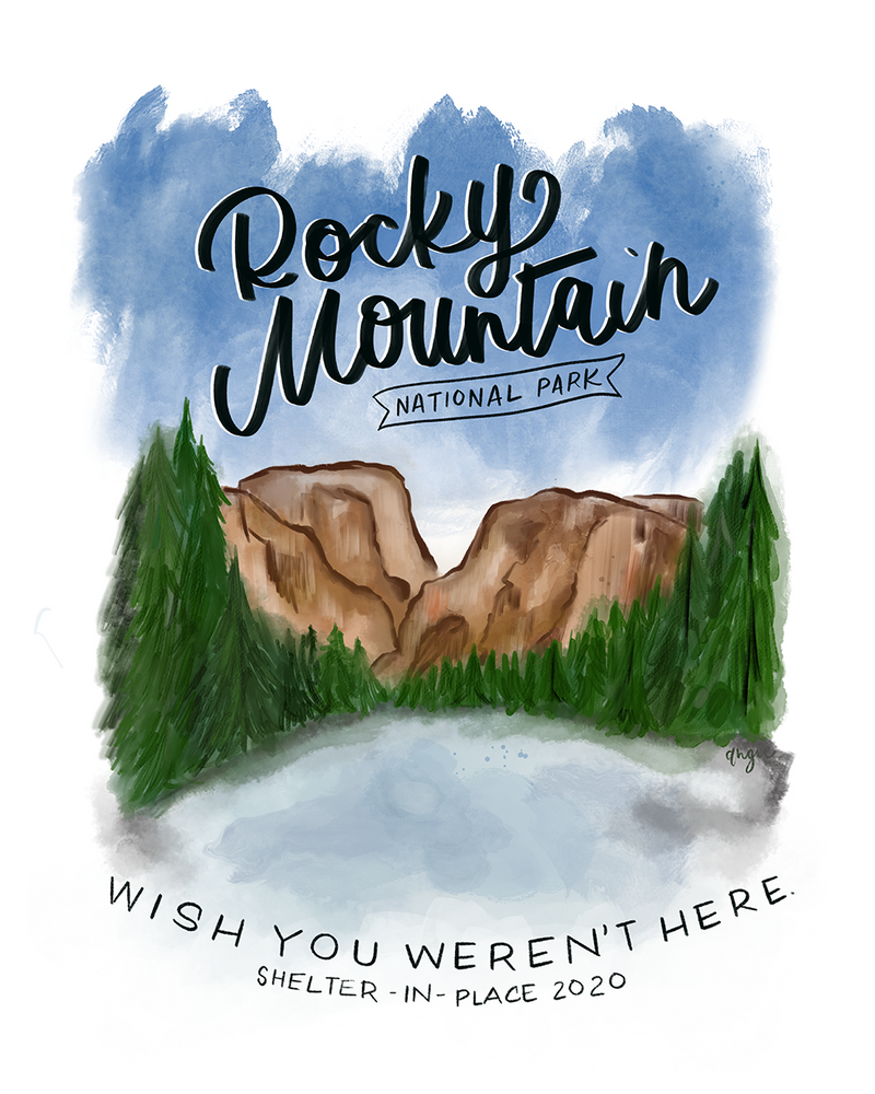 The Wish You Weren't Here, Rocky Mountain National Park Anti-Travel Postcard