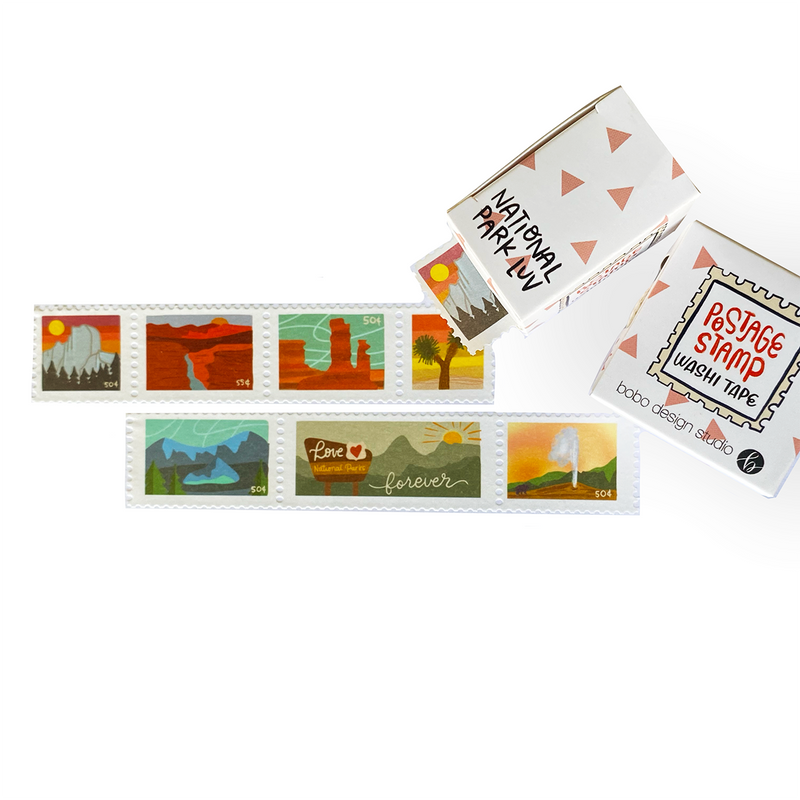 bobo design studio National Park Luv Postage Stamp Washi Tape