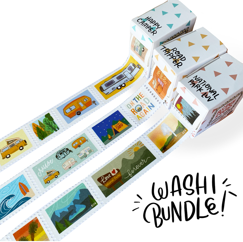 Happy Camper Postage Stamp Washi Tape