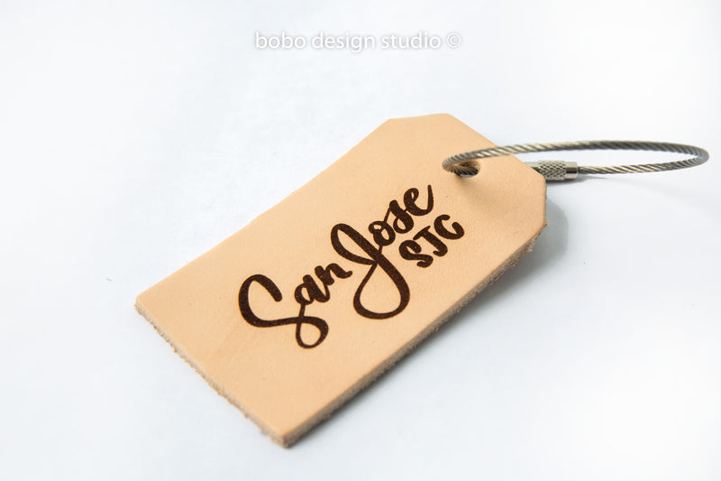 bobo leather luggage tag san jose