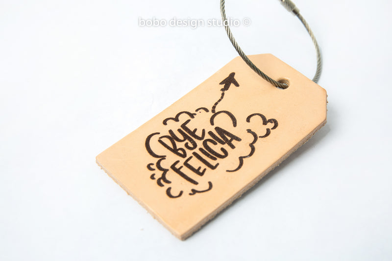 bobo leather luggage tags bye felicia